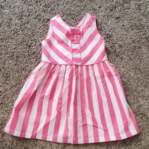 Pink white striped dress